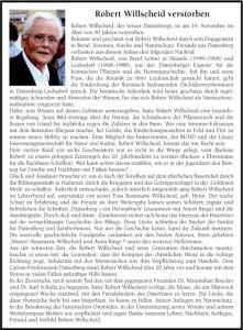 Blick Aktuell 49 2015 Nachruf Robert Willscheid